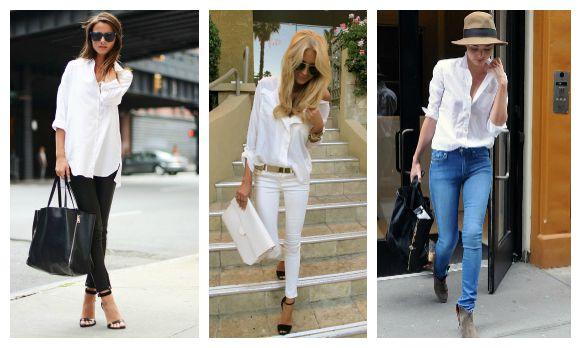 белая рубашка в базовом гардеробе