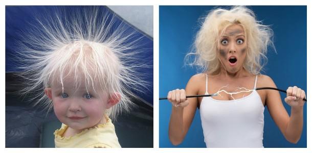 Электризованные волосы