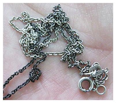Как отбелить потемневшее серебро