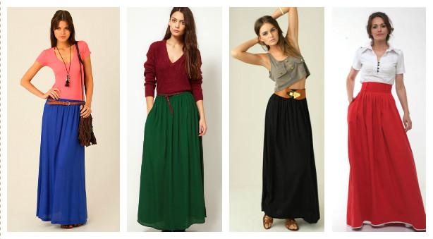 с чем носить длинную юбку в пол