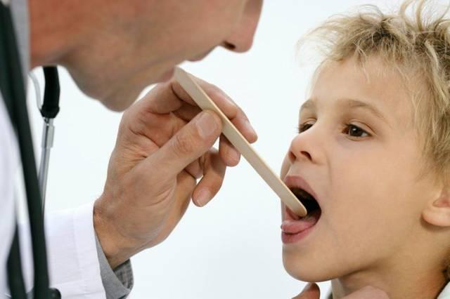 Высокая температура при ангине у детей