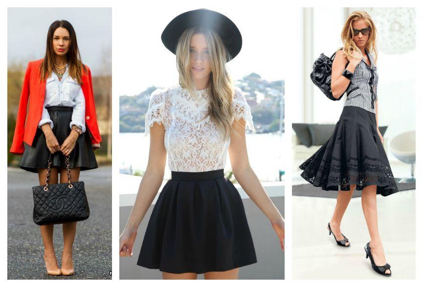 черные юбки